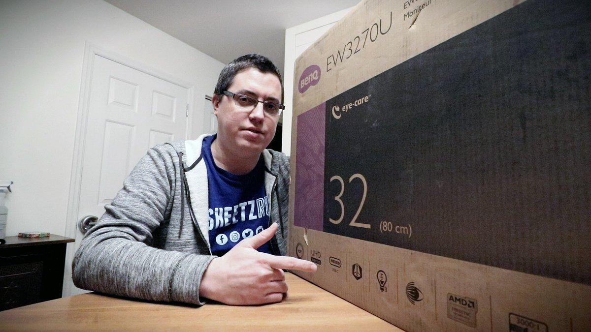New monitor unboxing! Thank you, @BenQAmerica. https://www.youtube.com/watch?v=gDgGk3bhptE…