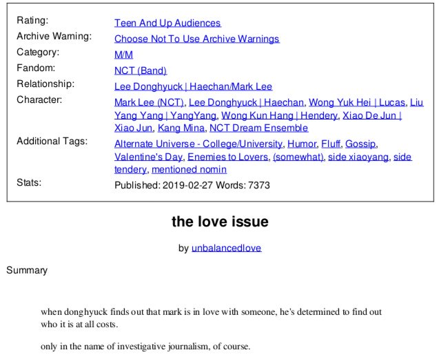 the love issue — by unbalancedlove — college au — a