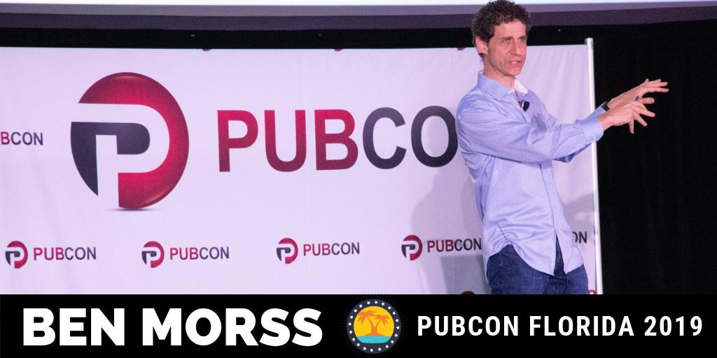 Tomorrow's Keynote with Google's Ben Morss starts at 9am sharp! Don't be late.   Schedule: https://www.pubcon.com/sessions-florida-2019…   #FortLauderdale #Pubcon