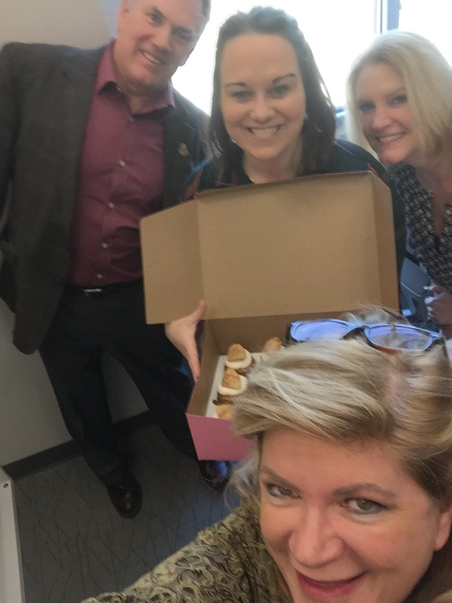 Today we say goodbye and good luck to Program Coordinator Kimberly Cyrus as she starts a new chapter. We celebrated with cupcakes and selfies!