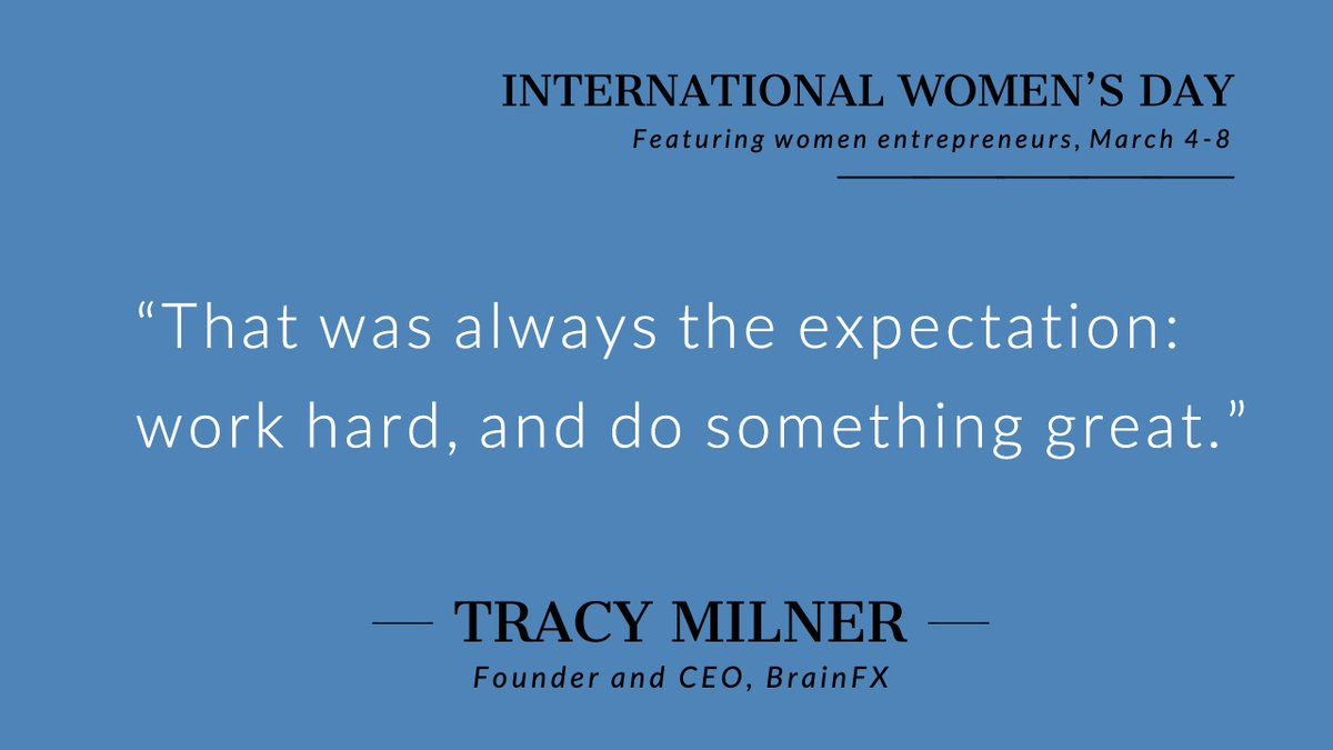 Tracy Milner, Founder & CEO of @mybrain is thrilled and honored to be featured for #InternationalWomensDay!  #YRtech #IWD2019 Thank you @ventureLABca !
