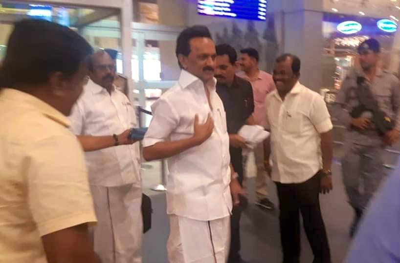 சற்று முன் #சென்னை #விமான #நிலையத்தில்   #கழக #தலைவர் அவர்கள்...  #DMKThalaivarstalin