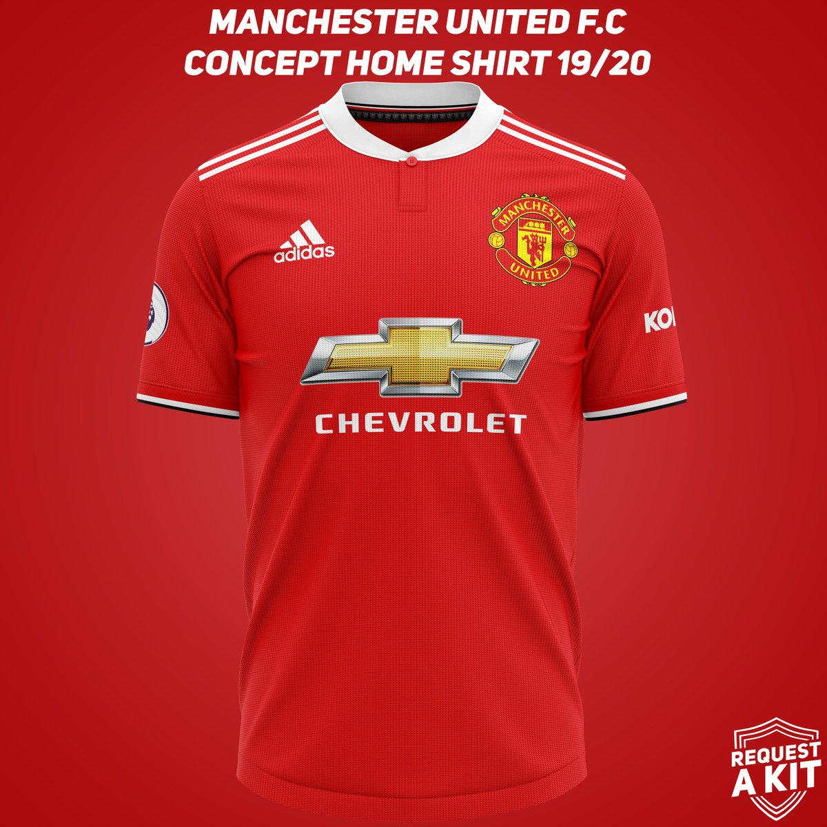 095dbf8a Manchester United F.C Concept Home, Away and Third shirts 2019-20  (requested by @kylecm27) #MUFC #ManchesterUnited #FM19 #wearethecommunity  Download for ...