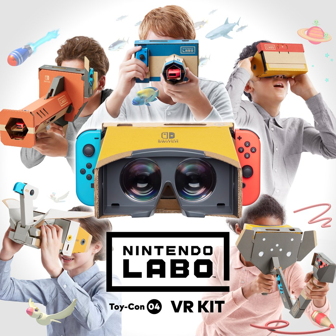 Nintendo brings virtual reality to the Switch with its new Labo kit
