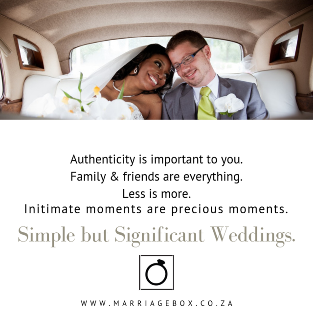 Less is more.  Intimate moments are precious moments... We'll organise your small but significant wedding for you.  http://www.marriagebox.co.za #smallweddings #simplebutsignificant #intimatewedding #authenticwedding pic.twitter.com/O2uJyQdH0R