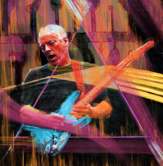 The man uses a guitar like Picasso used a brush. Happy birthday to Pink Floyd\s David Gilmour!