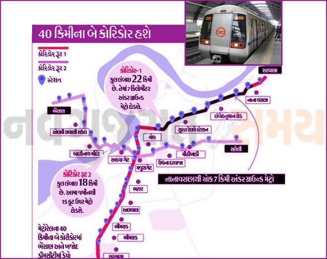 Surat Metro Rail Project DPR approved at PIB Delhi