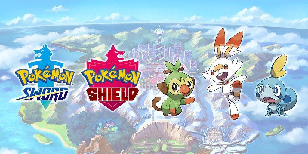 Pokémon Sword and Pokémon Shield logos on Paul Gale Network.