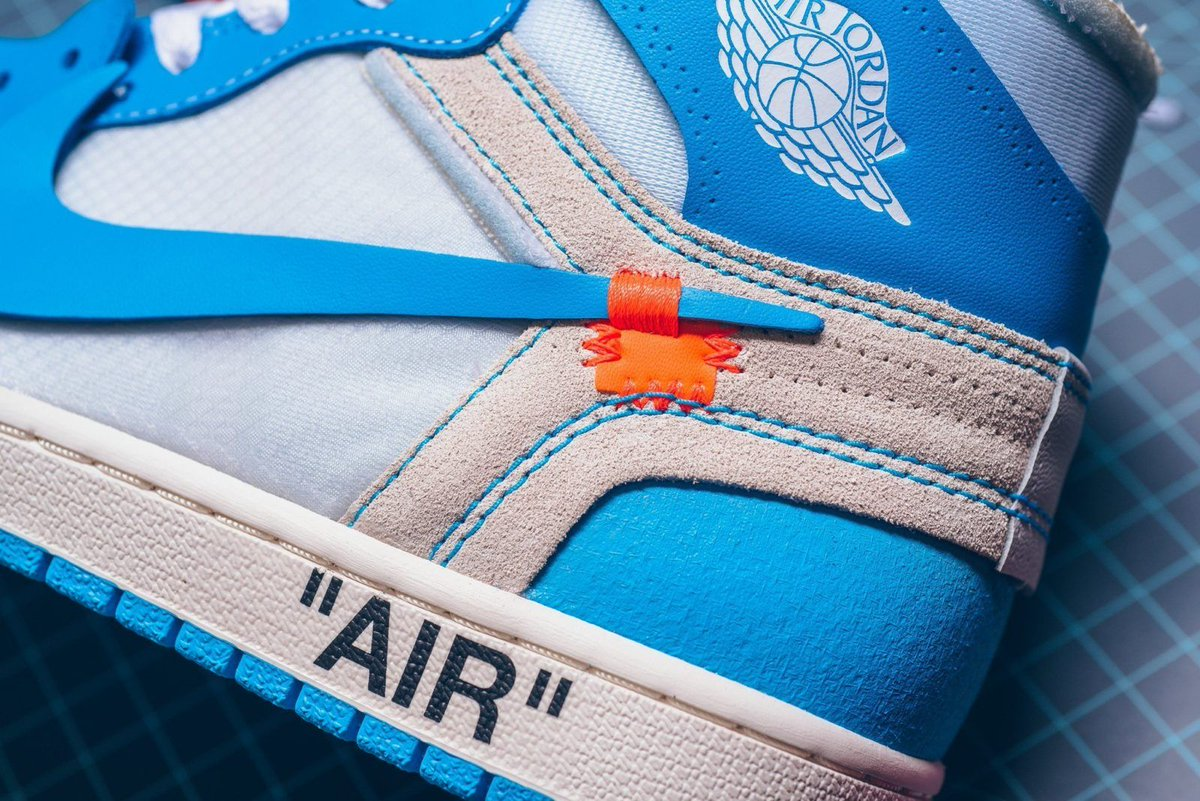 The Off-White x Air Jordan 1  UNC  is Tweet added by The Sole ... 69ea3ab7a