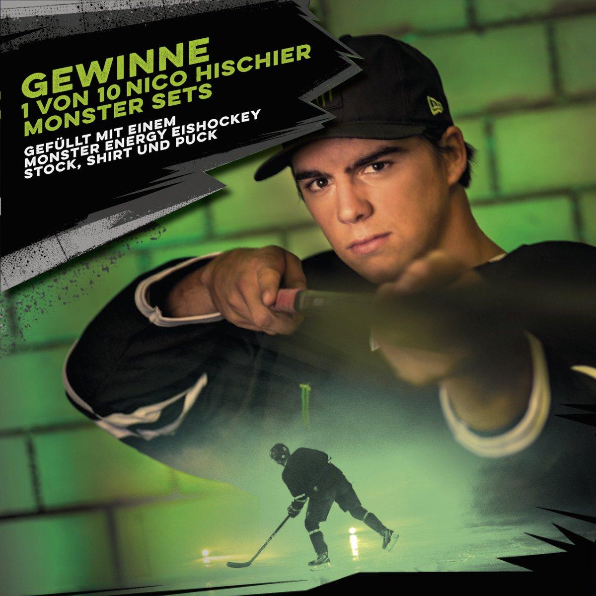 d34b839b5 Nico Hischier @nicohischierHey ! Willst du die Chance haben 1 von 10 meiner  @MonsterEnergy Eishockey-Sets zu gewinnen? Mach mit:  https://t.co/t5vUc6jfI5 ...