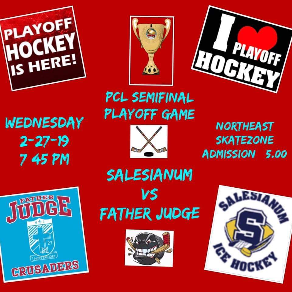 Tonight at Skatezone!  PCL Semi-Final.  @FatherJudgeHS show out and be loud! #gojudge