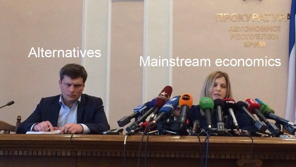 """Them: """"so how would you describe your economics degree?""""  Us:"""