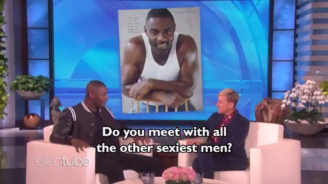 .@IdrisElba told me about being the #SexiestManAlive.