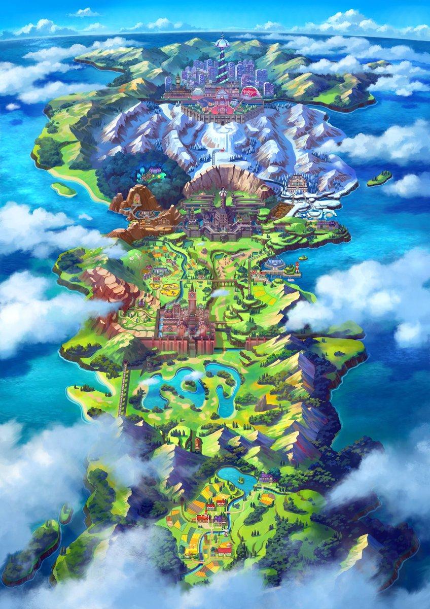 Pokemon Sword And Shield News On Twitter Pokemonswordshield Map
