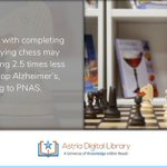 #Fact Reading along with completing puzzles & playing chess may lead to you being 2.5 times less likely to develop Alzheimer's, according to PNAS. https://t.co/i8fuHQDefg