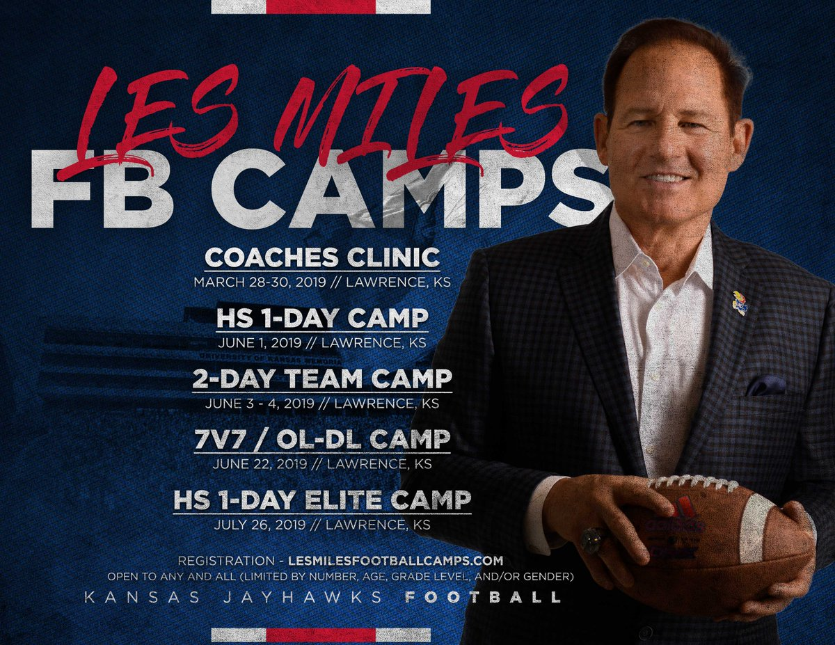 Camps and clinic will be a great opportunity for all. We look forward to hosting the best of the best!  🔗 http://lesmilesfootballcamps.com