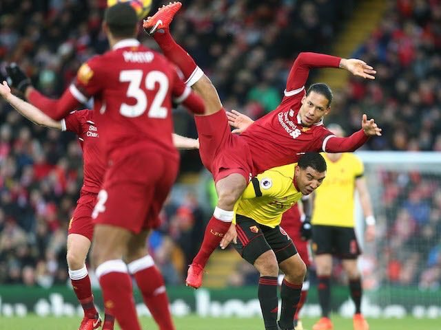 """It's Liverpool vs Watford tonight, so it's time to remember what Deeney said about Van Dijk: I Hate him. Hes too big, too strong, too quick, too good on the ball, he loves fighting, good head of hair. Hes one of those guys who sprays on his top as well so he smells lovely!"""""""