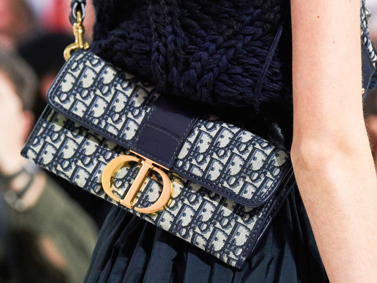 d67b1ae96 Dior Continues to Embrace Logos With Its Fall 2019 Runway Bags - https://