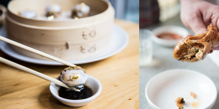 """Head Chef, Carlos Delgado, creates dishes that inspired by his upbringing in Lima 🇵🇪 @starchefs describes one of his best – the Shumai Dorado – as one of """"most luxurious soup dumpling that you can imagine."""" https://www.starchefs.com/cook/features/savory/dumplings-take-two…"""