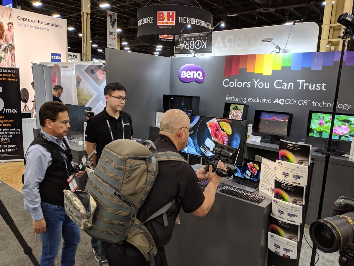 BenQ is here at @wppievents! Stop by booth 1066 to learn about our new products and catch our live photography demos at the top of every hour. Come see us and you could be one of 2 people to win a new SW240 photography monitor!   #WPPI2019 #LasVegas #weddingphotography