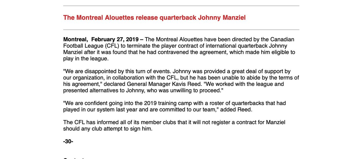 Johnny Manziel Has Been Kicked Out Of The Canadian Football League