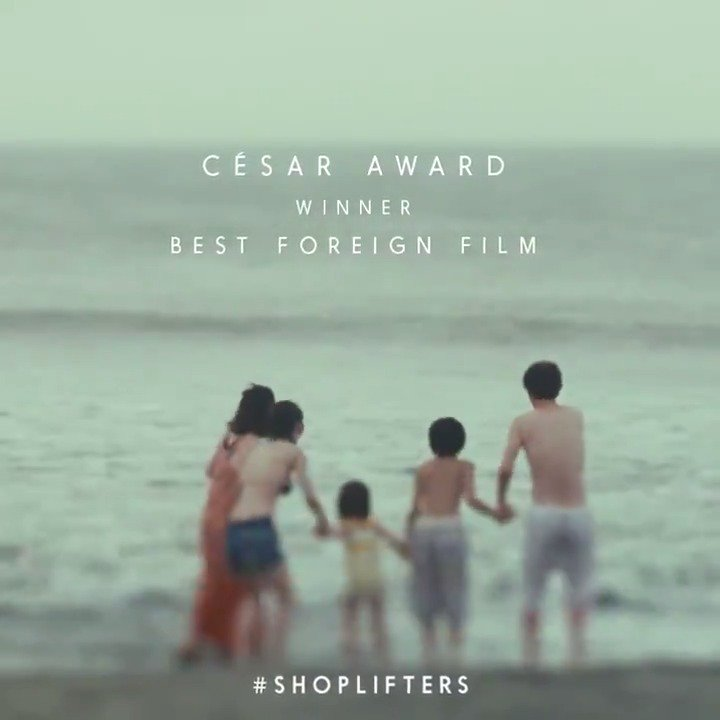 "To love and the connections that bond us ❤️ @ShopliftersFilm is the first Japanese film to be awarded Best Foreign Film by the French Academy of Cinema Arts and Techniques since Akira Kurosawa's ""Kagemusha"" in 1981!"