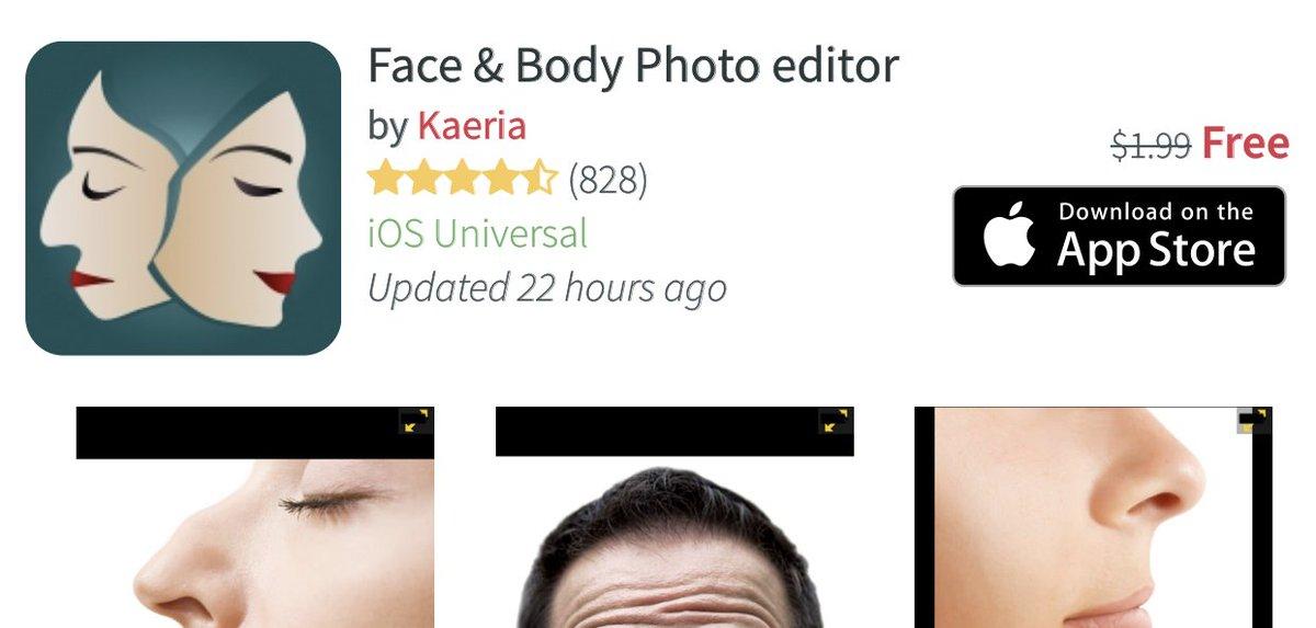 تحميل تطبيق Face & Body Photo المدفوع مجانا لفترة للايفون والايباد