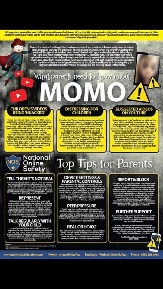 This sick, twisted MOMO thing needs to be stopped, please share far and wide. Protect your young ones!!!!