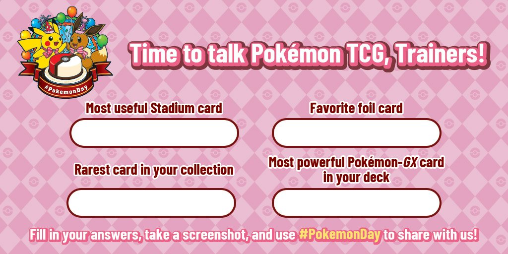 It's time for your next pop quiz! Dig out your decks and tell us about your #PokemonTCG collection, Trainers! #PokemonDay