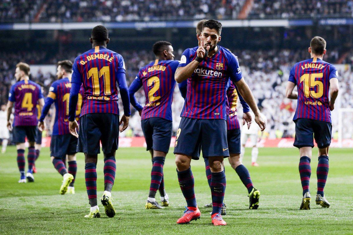 هدف برشلونة الأول في مرمى ريال مدريد - سواريز