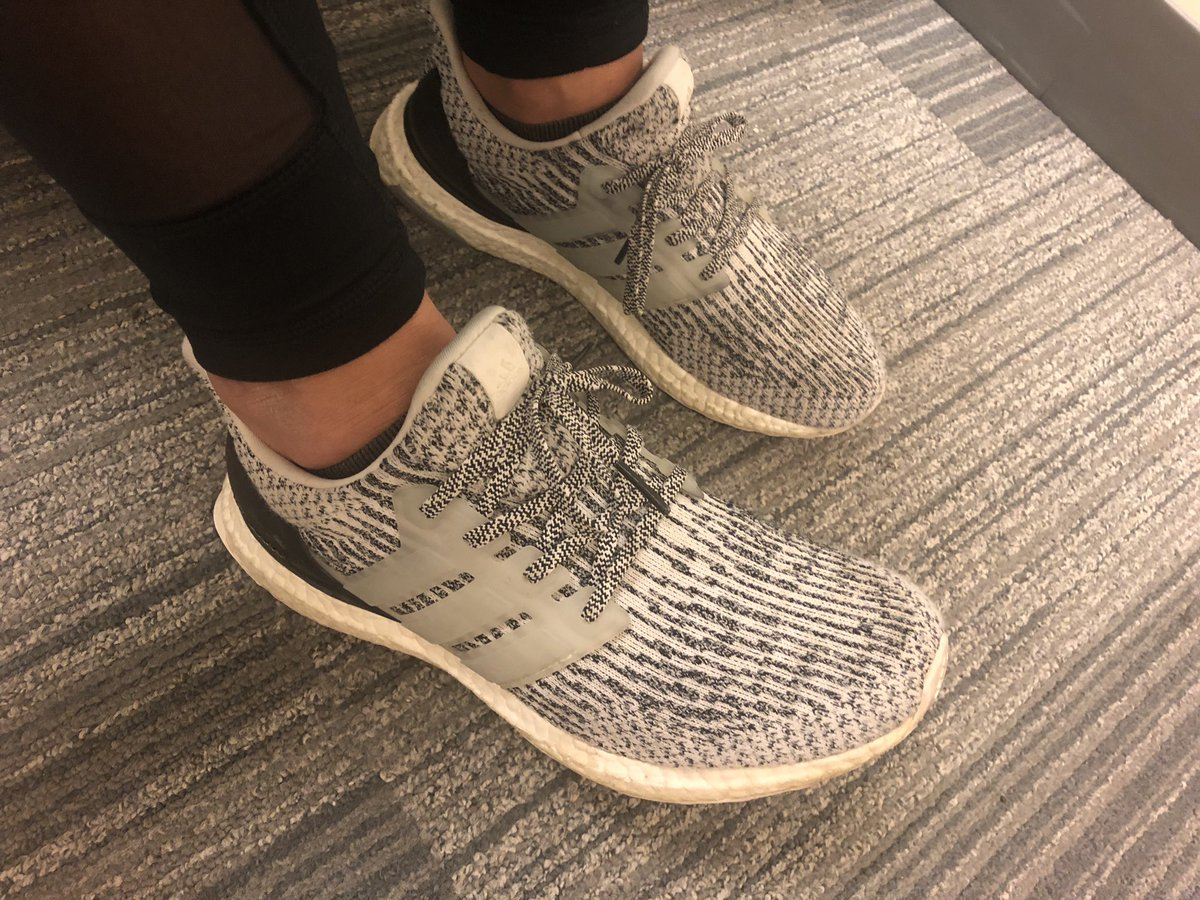 "758d4642eca8d adiPower Dwight Howar emesolad - Ultra Boost 3.0 ""Oreo"". we work hard  putting new shoes in game but we rock some heat too todays kyrie"