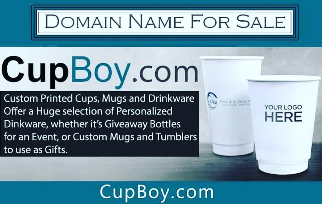 CupBoy. com https://bit.ly/2EB9mOk  #domainsforsale #coffeecup  #cupmockup #cupdesign  #cupdesigning #startup #drink #cup  #printdesign #cupprinting #cupprint  #dropshipping #packagedesign #graphicdesign #dropship  #papercupprinting #logo #mockup #printable #PRINTING #DomainName