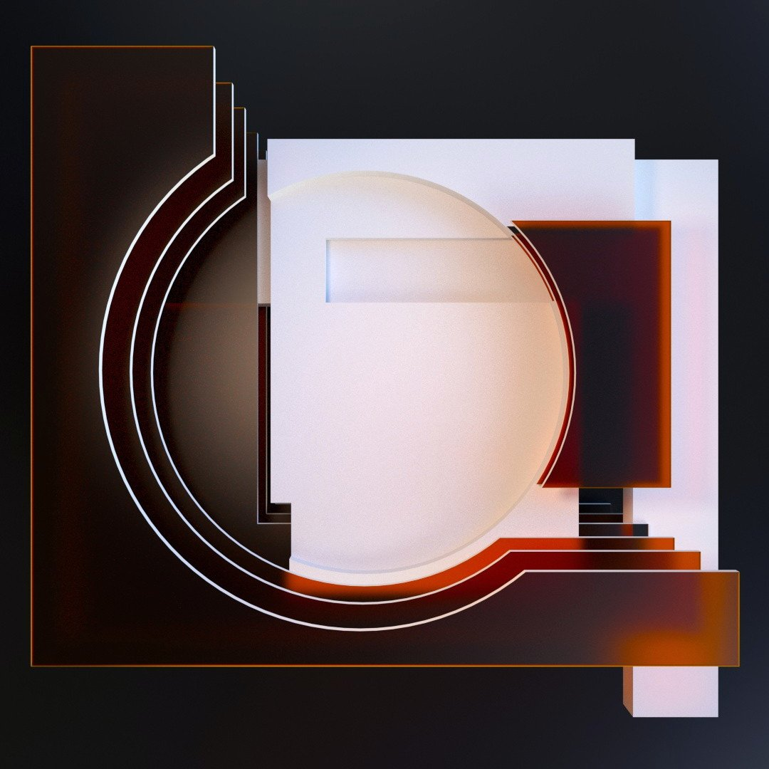 A recent render from my ongoing abstract design experiments