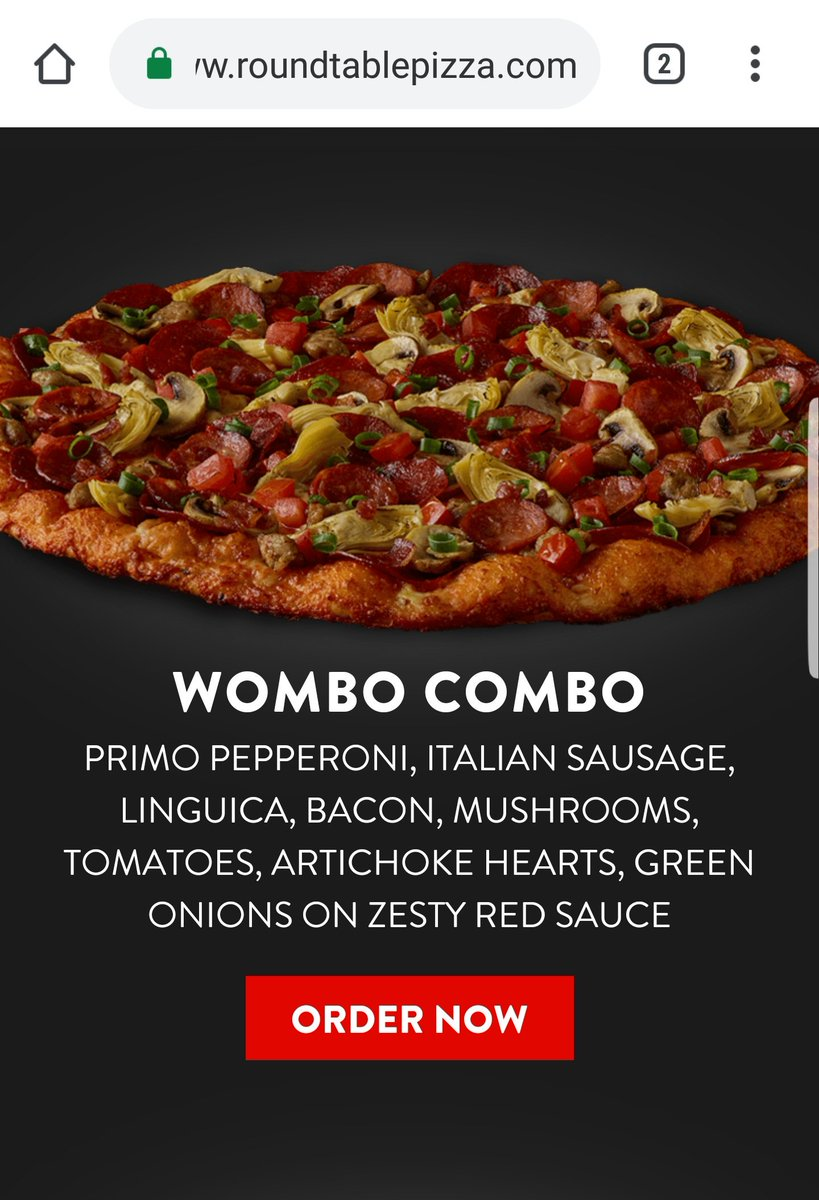 Round Table Pizza On Twitter Hi Scott Fear Not The Wombo Combo Is Still Available At Select Locations And When It S Not On The Menu Some Store S Can Still Make It Https T Co Ruxkwitrx4