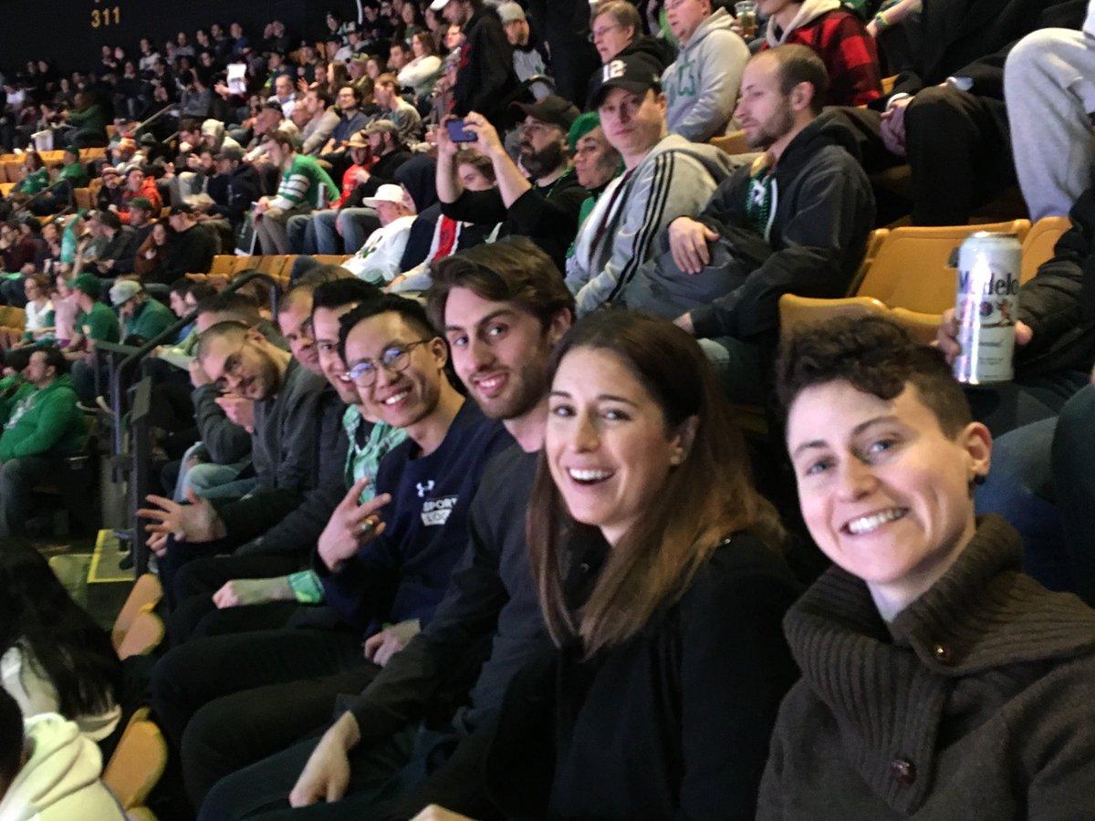 The Sportlogiq crew at the Boston @celtics vs. Portland @trailblazers game while in town for @SloanSportsConf. #SSAC19