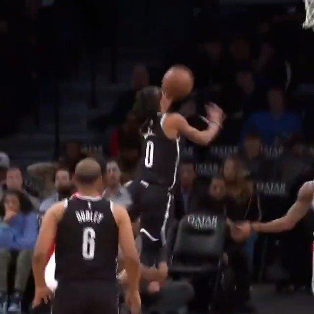 #NBACallUp Tahjere McCall (@215tahj) drives through the lane for his FIRST @NBA POINTS 👏  @TSUTigersMBB ↗️ @LongIslandNets ➡️ @BrooklynNets