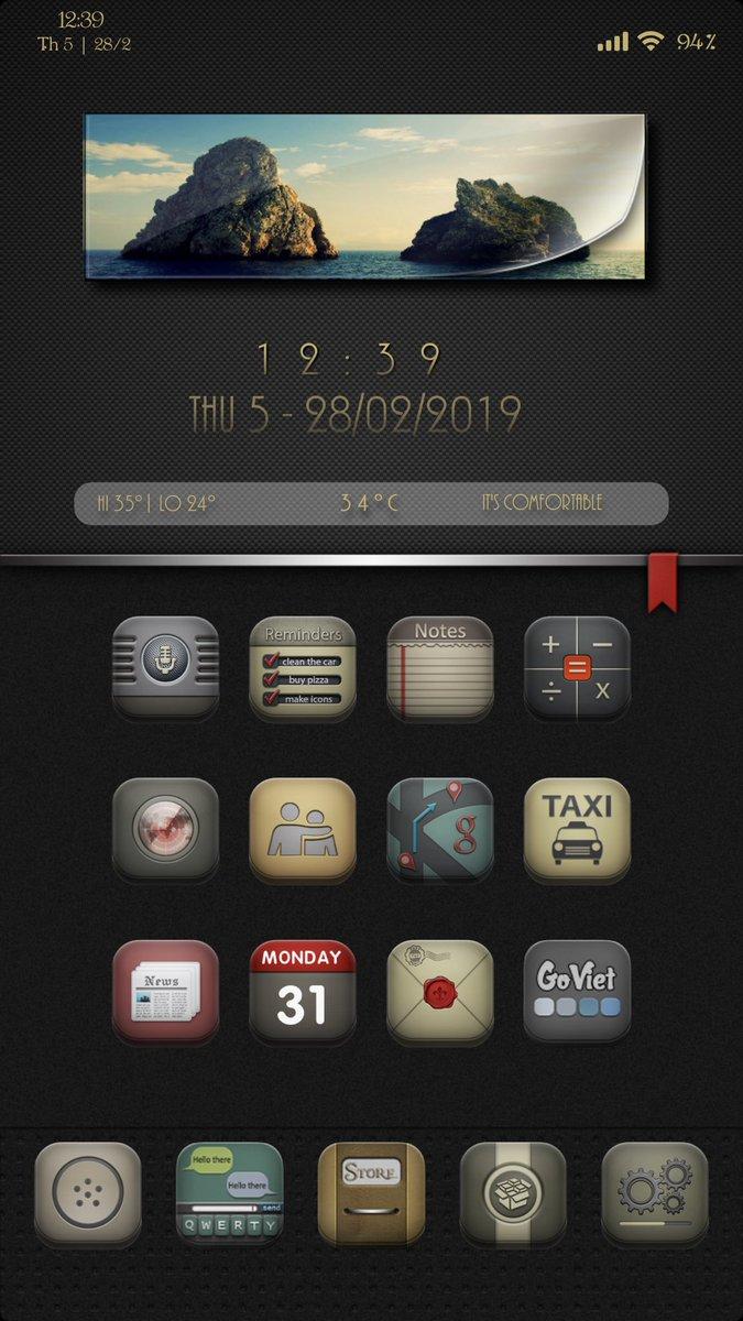 peheodangiu1 Set up today #iOS12 #Jailbreak #theme #XenHTML