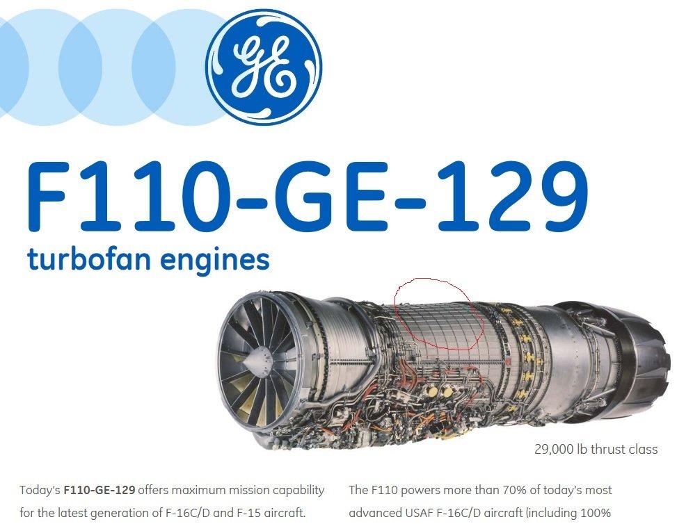 F 110 Ge 129 Turbofan Engine