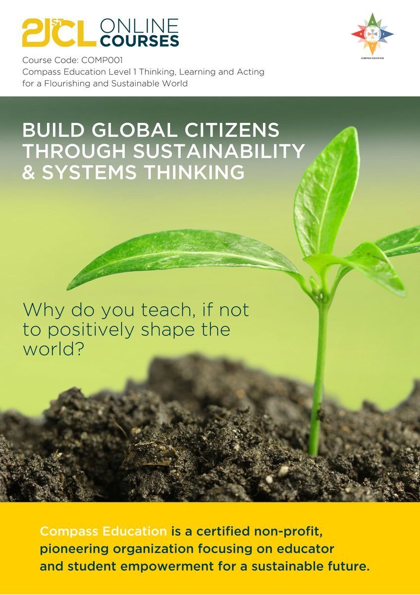 New cohort of Level 1 #onlinecourse starts in Apr 1! Learn deeper about #sustainability in education and practical application in the classroom using powerful tools. Suitable for educators everywhere, any level, any discipline! Register now http://bit.ly/2n7nD9h #EdChat #