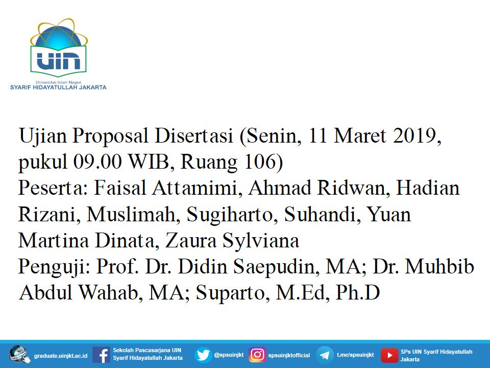 Ujian Proposal Disertasi, Senin, 11 Maret 2019 @YuanMartina @Faisal_Att @zaurasylviana dkk.