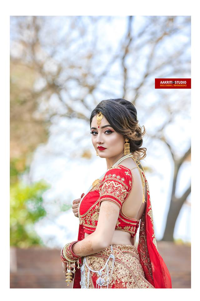 Brides from Nepal, the elegance. Brides in Nepal dress red attire during marriage, symbol of love and desire for love again. #wedding  #Nepal #Elegance #bride #love #conjugal #wifelife