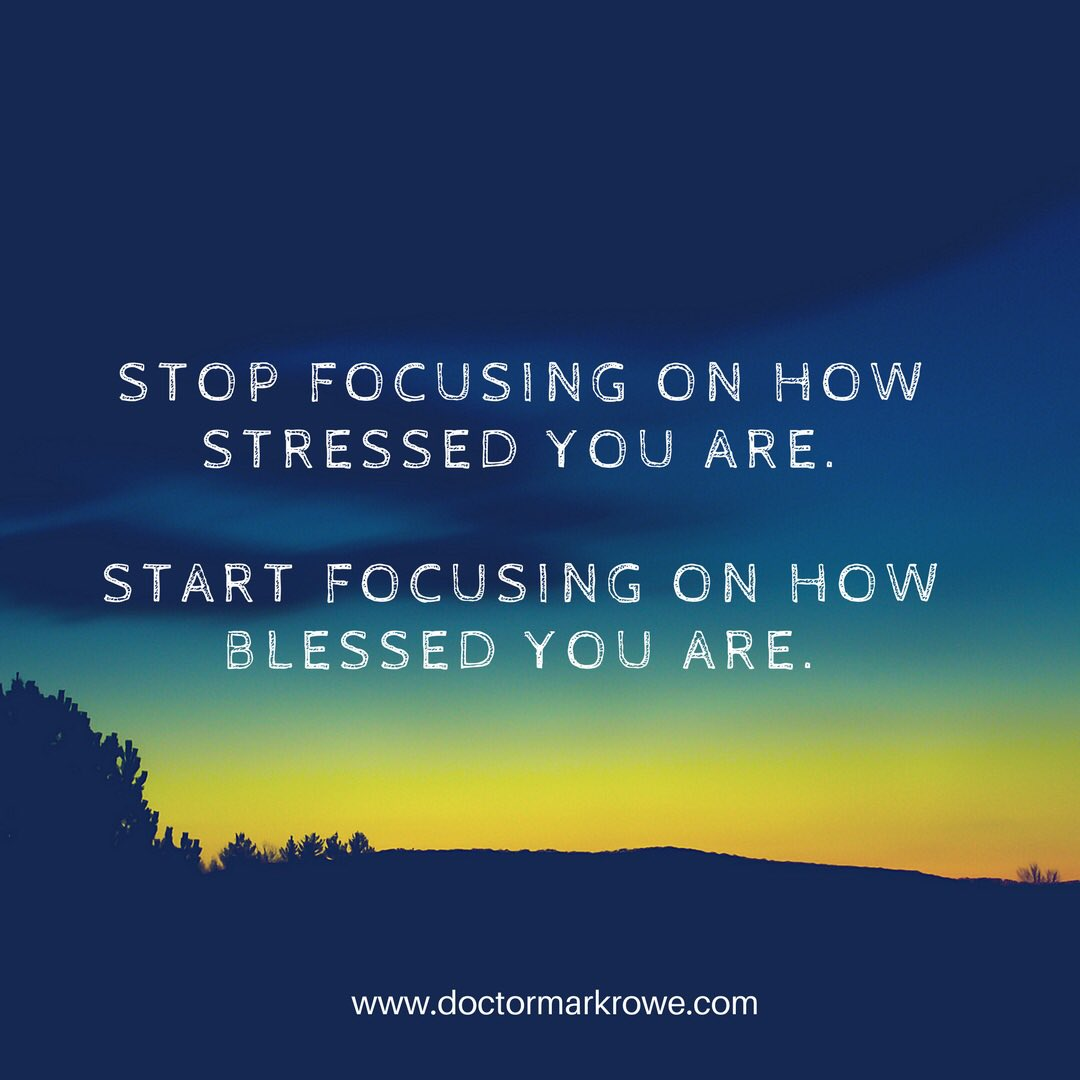 Stop focussing on your stress's and focus more on your blessings. #gratitude #stress #letgo #onlyonelife #wellbeing