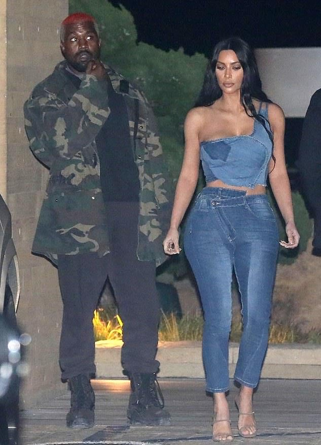 Kim and Kanye at Nobu in Malibu last night.