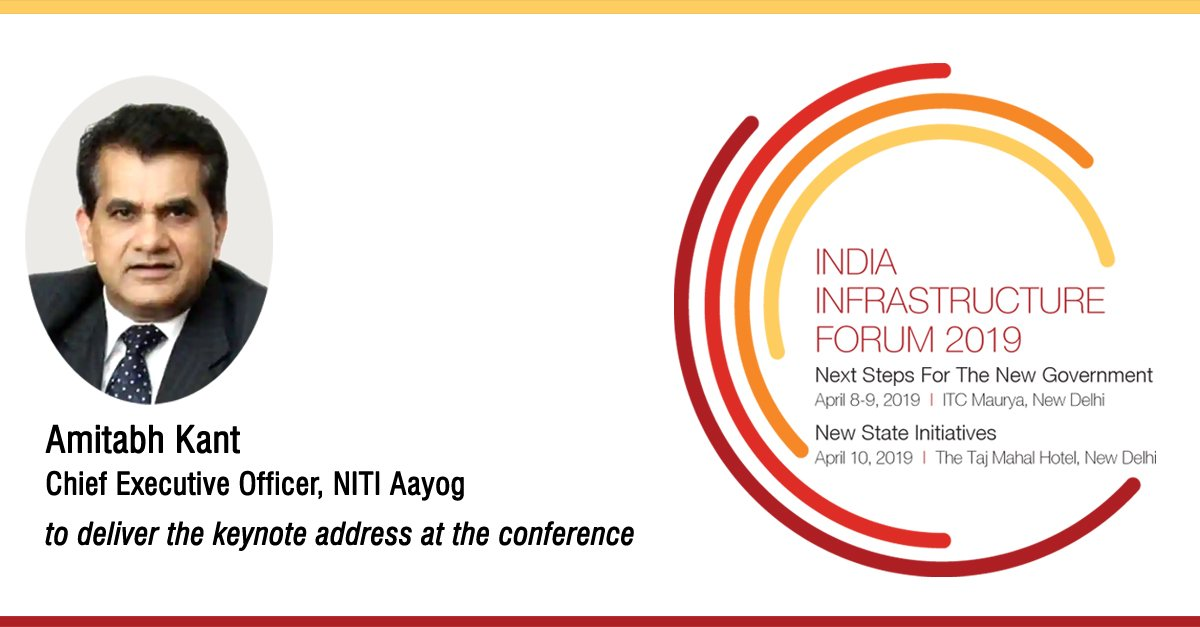 Mr. Amitabh Kant, CEO, NITI Aayog will be delivering the keynote address at India Infrastructure Forum 2019. For brochure and more information visit: https://lnkd.in/fXXGbd7 #indiainfraforum #NITIAayog #infrastructure @indiainfraforum