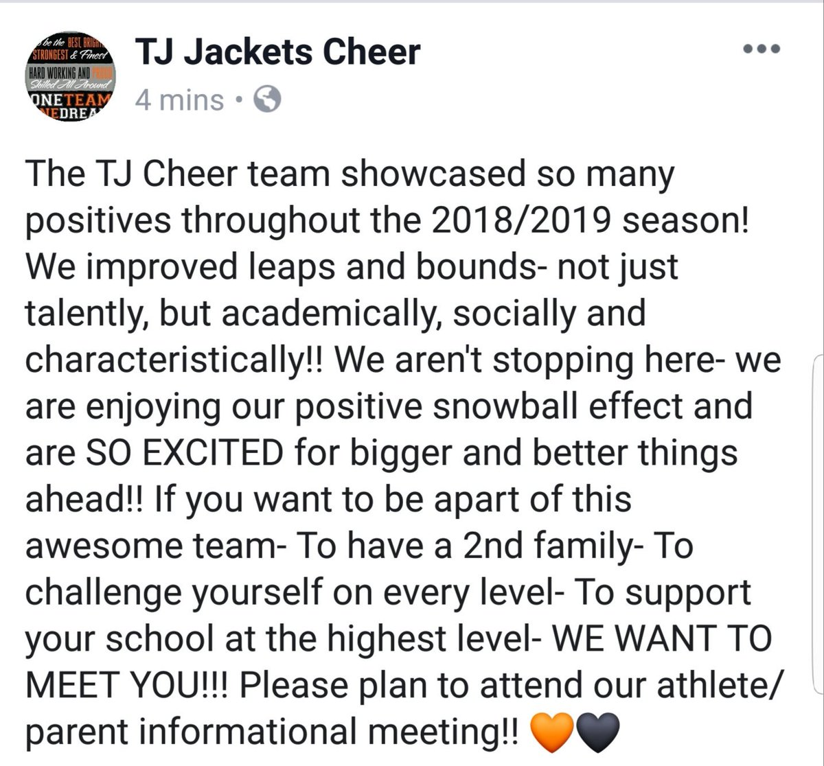 See you soon!! 🧡🖤