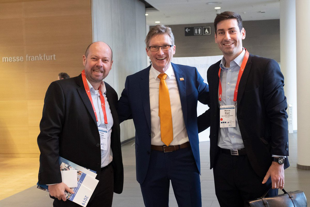 Congrats! Excellent event. We enjoyed the exchange with lots of interesting contacts at the #ECP2019 in Frankfurt. Let us keep in touch. Looking forward to the next event. @holgerbengs @DrFunky4 #MarcoMajer @CorinnaHerrman4 #digital #chemistry #Startup #digital #5HT_ontour https://t.co/n2lOVhvs3A