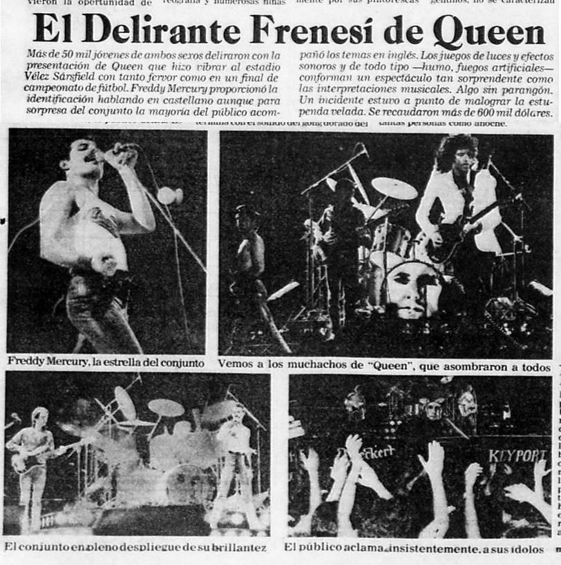 """Hemeroteca Porteña Twitterren: """"La primera visita de Queen en Argentina.  Hace 38 años Estadio de Velez. Miguel Mateos telonero. En : La Razón 1º  marzo 1981. #Velez #queen #Mercury #28Febrero… https://t.co/WlA9ffCZU8"""""""