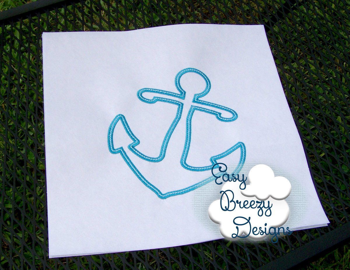 Ravelry nautical baby blanket with anchor applique pattern by