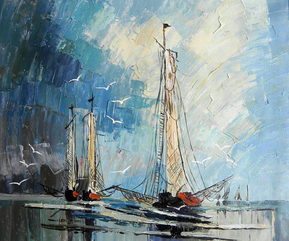 Contemporary Art Modern Landscape Oil Painting for Living Room Home Decor Boats in the Sea Hand Painted Painting Horizontal https://my-artwork.com/product/contemporary-art-modern-landscape-oil-painting-for-living-room-home-decor-boats-in-the-sea-hand-painted-painting-horizontal/ …