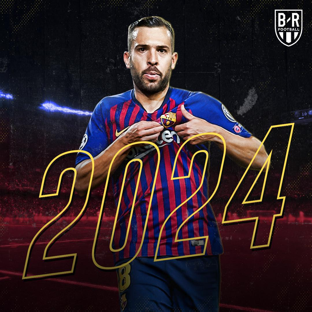 BREAKING: @JordiAlba extends his Barcelona contract to 2024 🔵🔴